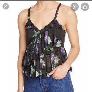 Free People Melbourne Floral Tank